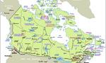 Canada map  landscape