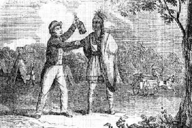 Спаивание индейцев в США европейскими колонизаторами