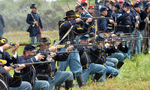 Stock photo vista california april american civil war is reenacted by union soldiers on 51230320 1   landscape
