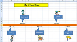 Sample2 schoolday timelineexcel
