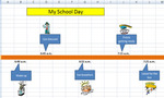 Sample2 schoolday timelineexcel  landscape
