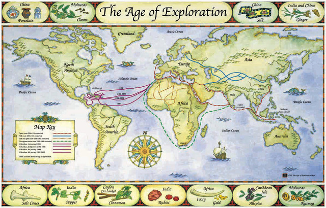 Early Voyages Of Exploration Interactive Map Through: Age Of Exploration Timeline Timeline