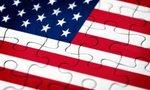 American flag puzzle  landscape