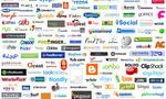 Social networks logos  landscape