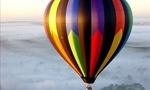 Hot air balloon  landscape