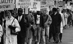 Civil rights march cut  landscape