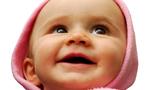 Smiling baby  landscape