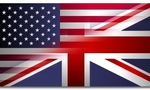 British american flag tiny landscape