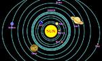 Planet in solar system  landscape