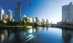 Melbourne skyline  landscape