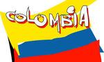 Colombia flag  landscape