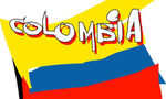 Colombia flag tiny landscape
