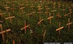 013 rwanda genocide crosses in kigali  landscape