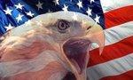 Bandera americana y aguila  landscape