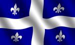 Quebec flag  landscape