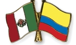 Flag pins mexico colombia  landscape