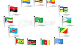 Stock illustration 15141510 world flags central africa and african union  landscape
