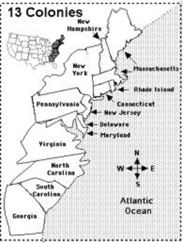 ... 1770 The The 13 Colonies The Original 13 Colonies Tour Map 13 Colonies