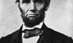 220px abraham lincoln head on shoulders photo portrait tiny landscape