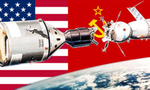 Soviet union vs united states space race tiny landscape