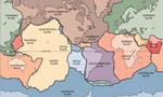 Plate tectonics map  landscape