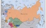 Russia map  landscape