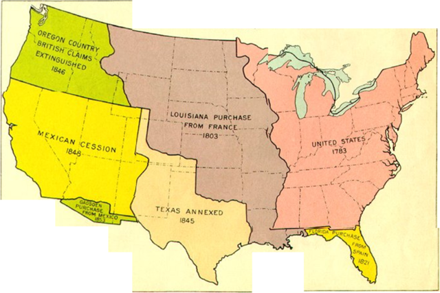 united states westward expansion map