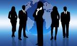 Business people world  landscape