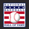 Baseball hall of fame small square