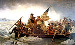 300px washington crossing the delaware by emanuel leutze, mma nyc, 1851 tiny landscape