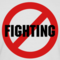 No fighting design small square