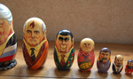 Russian leaders matriochka tiny landscape