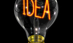 Invention.lightbulb idea  landscape
