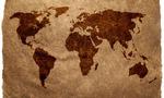 Old world map  landscape