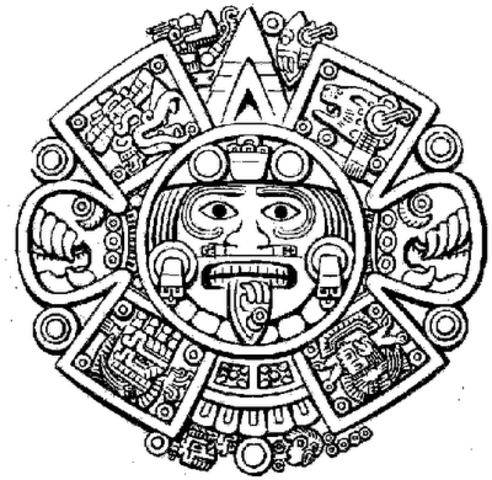 aztec murals coloring pages - photo#14