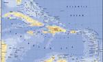 Caribbean map  landscape