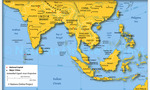 South east asia map  landscape