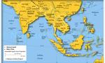 South east asia map  landscape