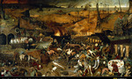 Bruegel the triumph of death tiny landscape