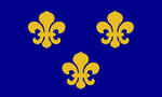 Flag of medieval france tiny landscape