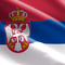 Serbian flag small square
