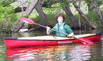Red kayak  landscape