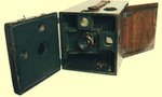 1888 box camera tiny landscape