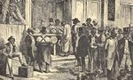 Freedmen voting  south carolina  1868  landscape