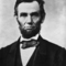 Abraham lincoln head on shoulders photo portrait small square