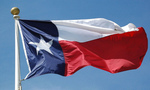 Texas flag tiny landscape