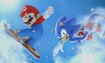 Winter olympics mario and sonic tiny landscape