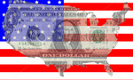 Stock photo one dollar bill with american map flag frame 2671159  landscape