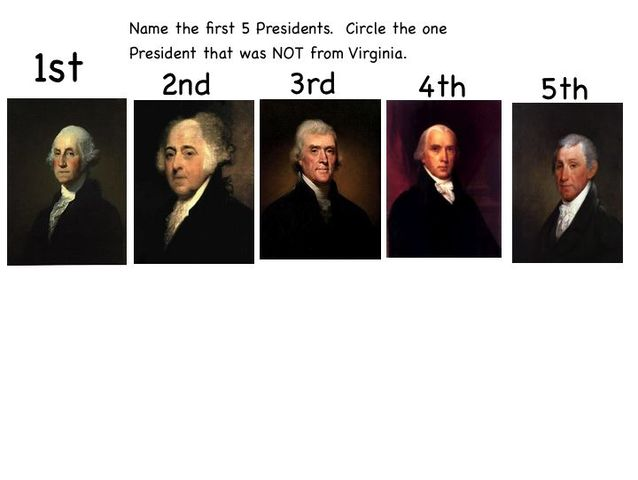 first five presidents timeline