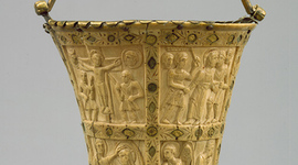 Situla (bucket for holy water) medium landscape